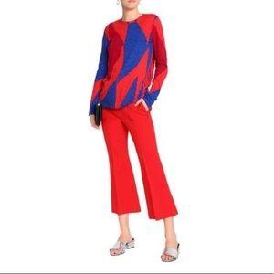 Proenza Schouler Red/Blue Printed Jersey Top